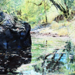 Arizona landscape in watercolor