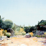 Original watercolor landscape of Honeybee Canyon near Tucson Arizona